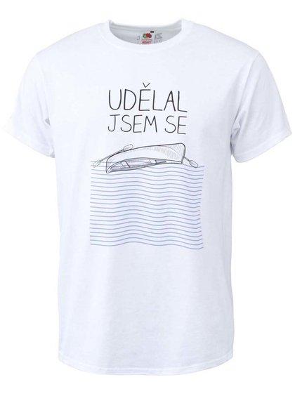 Biele pánské tričko ZOOT Originál Udělal jsem se
