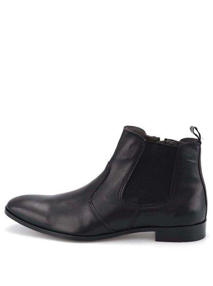 Čierne kožené chealsea topánky Dice Wolford