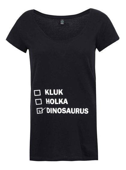 Černé těhotenské tričko ZOOT Originál Dinosaurus