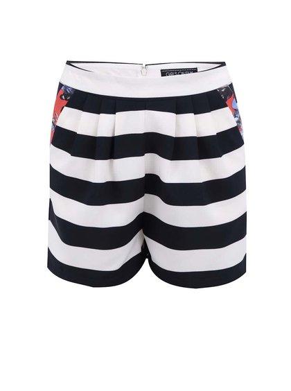 Pantaloni scurți în dungi Girls On Film - albastru și alb
