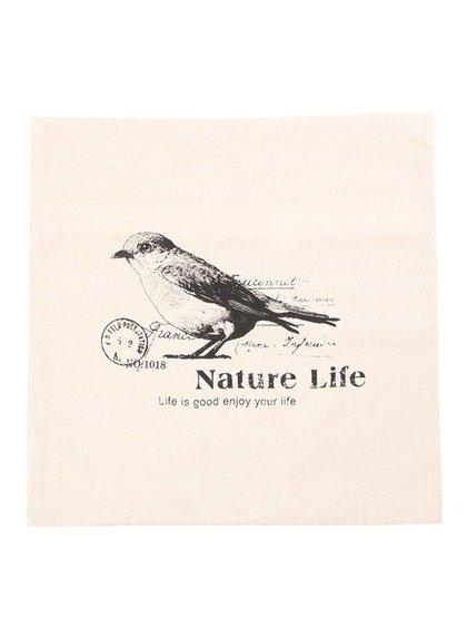 Față de pernă bej Dakls Natura Life