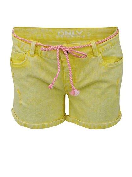 Žluté džínové kraťasy ONLY Carrie