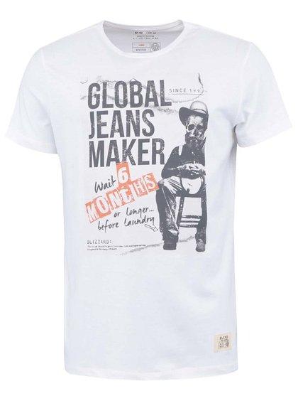 Bílé triko s potiskem Blend Laundry