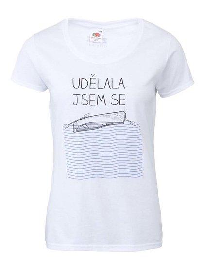 Biele dámske tričko ZOOT Originál Udělala jsem se