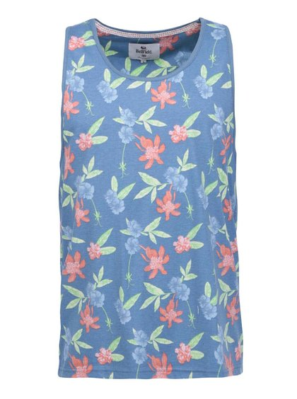 Modré pánské tílko s květinovým potiskem Bellfield Miller