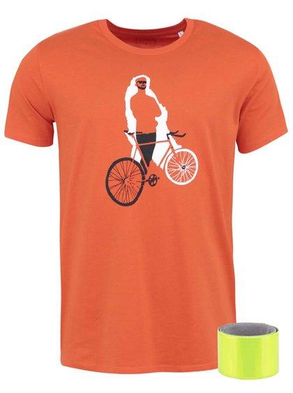Tricou portocaliu ZOOT Original Cycling Man din bumbac cu print