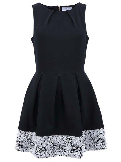 Černé šaty s krajkovým lemem Closet