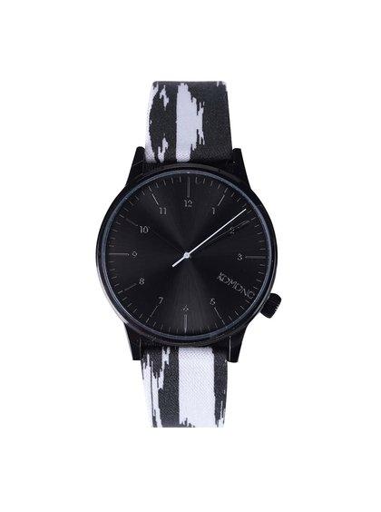 Čierno-biele pánske hodinky Komono Winston Blurred Lines