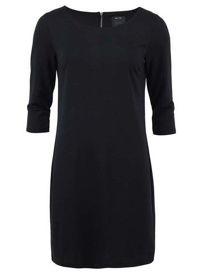 Černé volnější šaty s 3/4 rukávy ONLY Emma