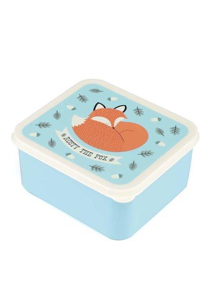 Tyrkysový box na jídlo s liškou Rex Rusty The Fox