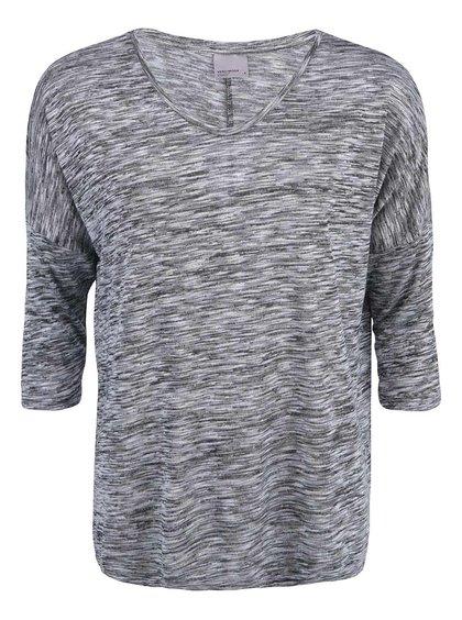 Tricou gri cu dungi și mâneci 3/4 Vero Moda Anna