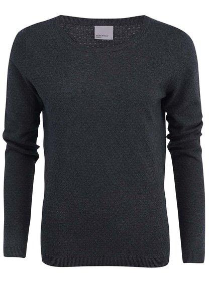 Tmavosivý vzorovaný sveter Vero Moda Care