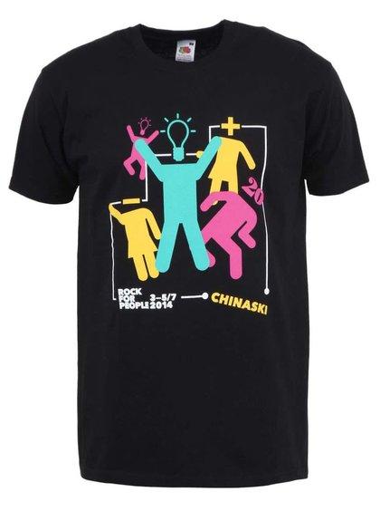 Černé pánské triko Chinaski ROCK FOR PEOPLE