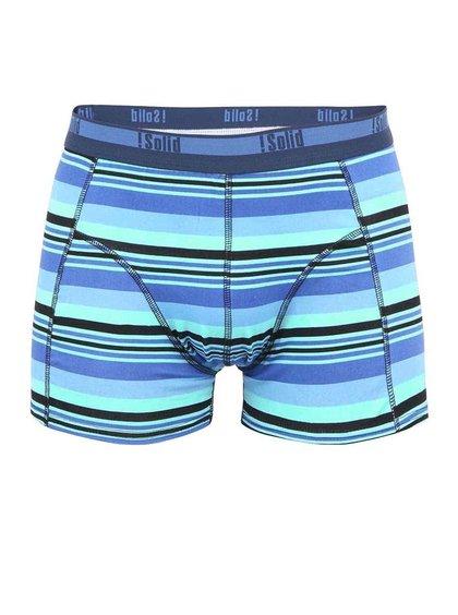 Zeleno-modré pruhované boxerky !Solid Jaron