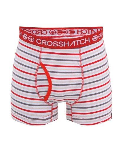Červeno-šedé pruhované boxerky Crosshatch Plasma