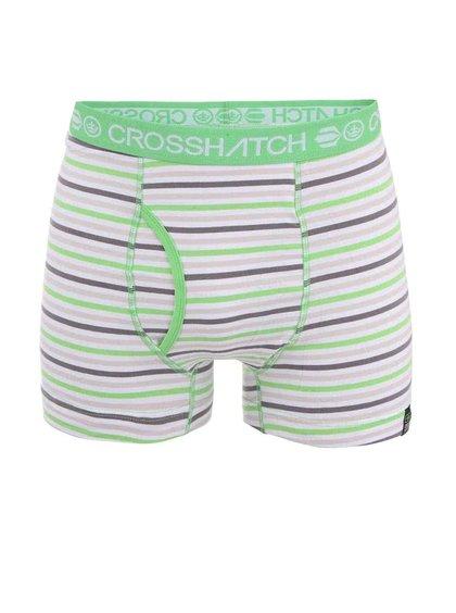 Zeleno-šedé pruhované boxerky Crosshatch Plasma