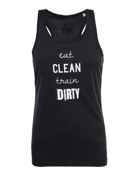 Čierne dámske tielko ZOOT Original Eat Clean