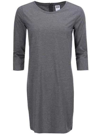 Sivé šaty s 3/4 rukávom VERO MODA Sky