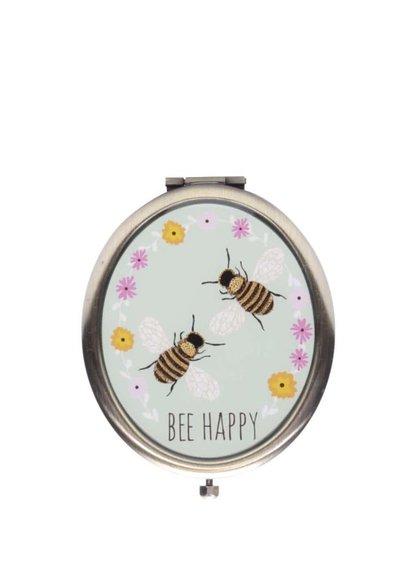 Oglindă compactă Sass & Belle cu model albine