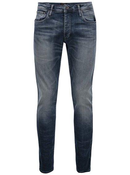 Jeanși cu efect de uzură albaștri Jack & Jones Glenn