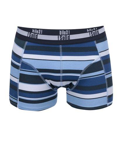 Șort boxer clasic !Solid Orlando cu dungi albe și albastre