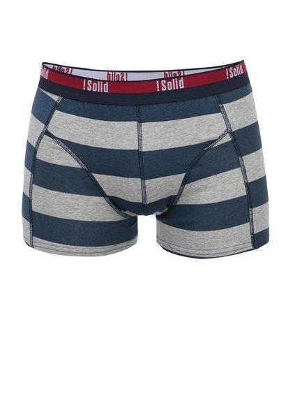 Modro-sivé pásikavé boxerky !Solid Niels Arne
