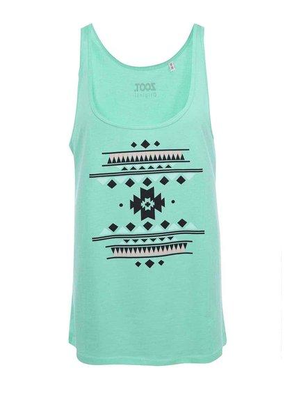 Světle zelené dámské tričko s potiskem ZOOT Originál Vzor