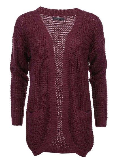 Cardigan tricotat Emma ONLY - vișiniu