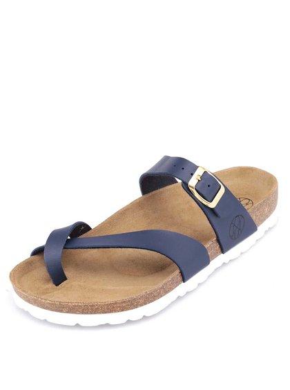 Modré pantofle s bílou podrážkou OJJU