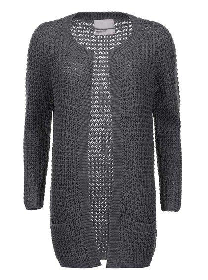Tmavě šedý cardigan Vero Moda Cozy