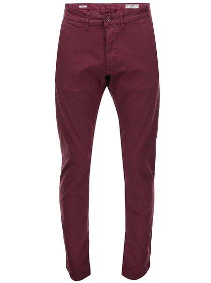 Vínové chino kalhoty Jack & Jones Bolton