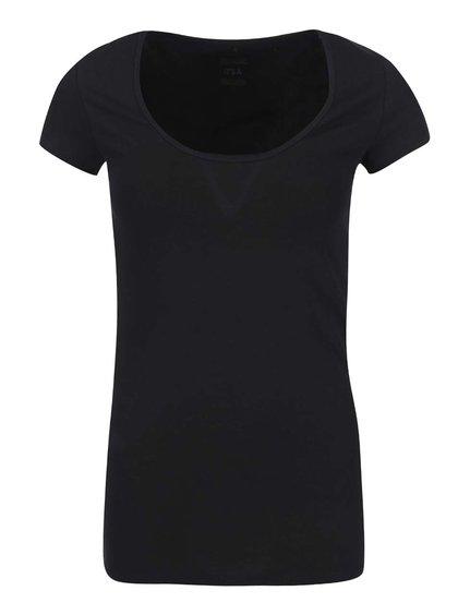 Čierne tričko s guľatým výstrihom ONLY Live Love