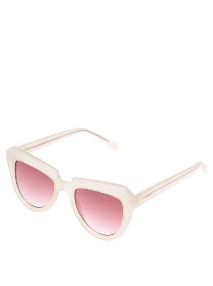 Béžové dámske slnečné okuliare s ružovými sklíčkami Komono Stella