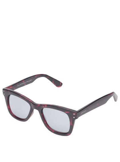 Ochelari de soare unisex Komono Allen, roșu cu gri