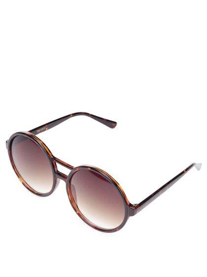 Hnědé dámské sluneční brýle Komono Coco