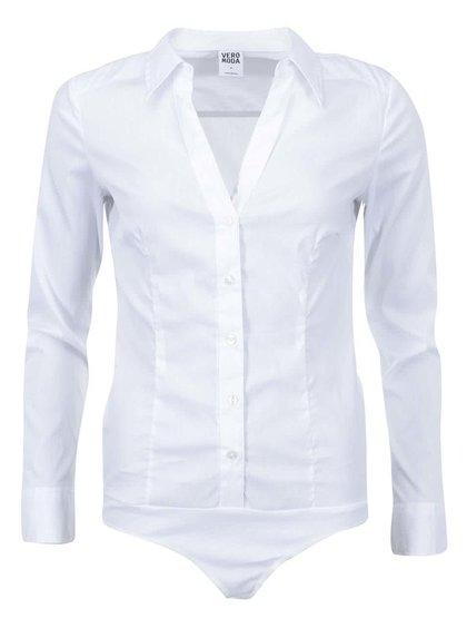 Biele košeľové body Vero Moda Cousin