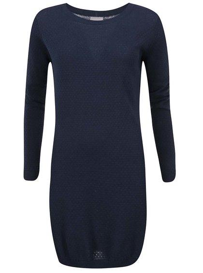 Tmavomodré svetrové šaty Vero Moda Care