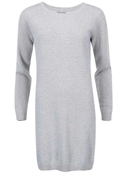 Svetlosivé svetrové šaty Vero Moda Care