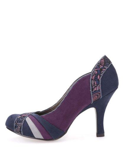 Pantofi cu toc, violet/albastru, cu model, Ruby Shoo