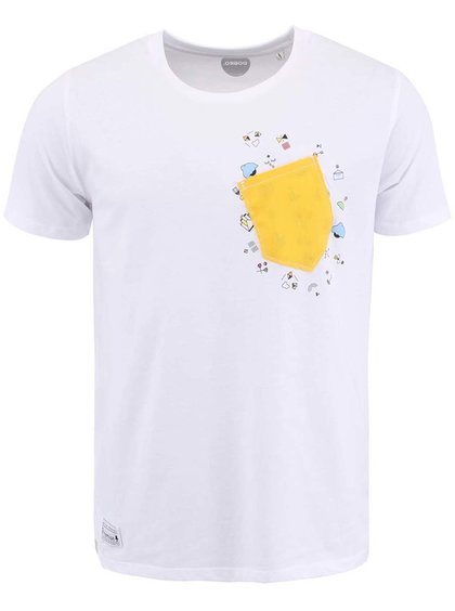 """""""Dobré"""" biele pánske tričko s potlačou Cesta domov"""