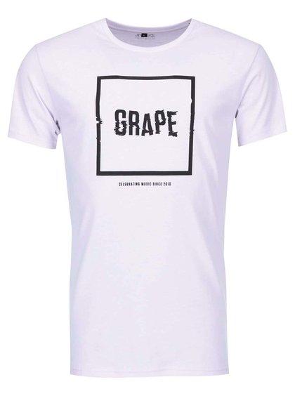 Fialové pánské triko Grape Logo Square