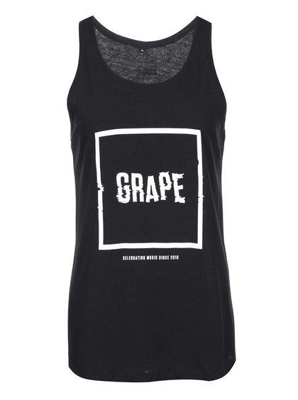 Čierne dámske tielko Grape Logo Square