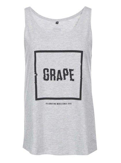 Šedé dámské tílko Grape Logo Square