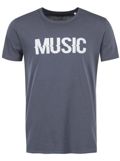 Modrosivé pánske tričko ZOOT Originál Music