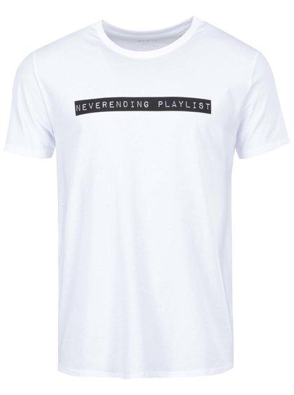 Bílé pánské triko ZOOT Originál Neverending playlist