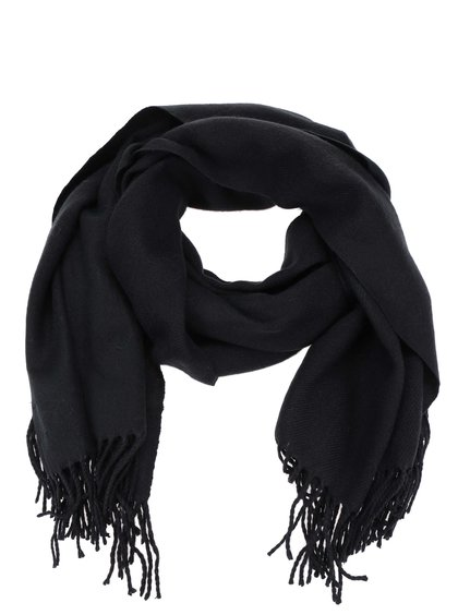 Čierny šál Vero Moda Solid