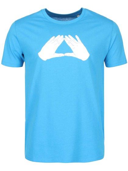 Modré pánske tričko ZOOT Originál Trojúhelník