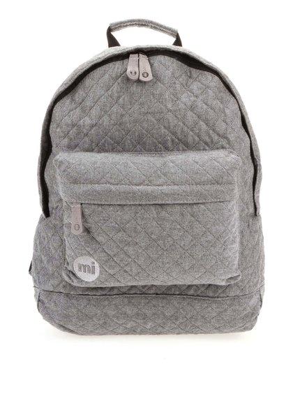 Sivý prešívaný unisex batoh Mi-Pac Quilted 17 l