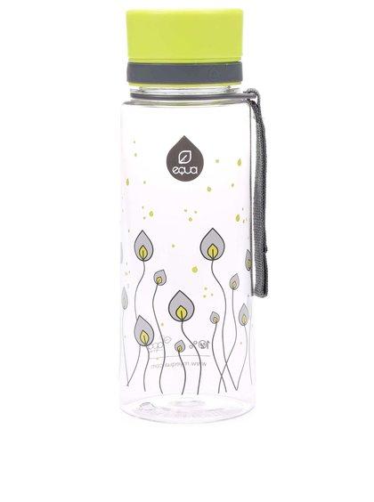 Plastová fľaša s motívom listov EQUA (600 ml)