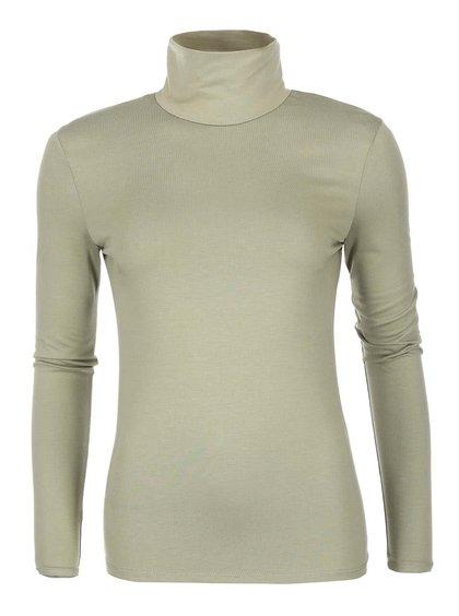 Bluză khaki pe gât cu mânecă lungă de la VILA Officiel